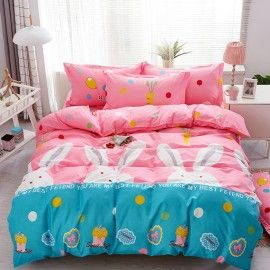 Lenjerie bumbac Sweet candy,150 x 200 cm, 4 piese